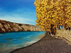 Autumn Picnic Spot - Prints Available Picnic Spot, Acrylic Paintings, New Zealand, My Arts, Autumn, Water, Artist, Artwork, Prints