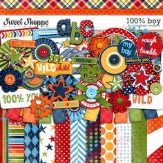 Sweet Shoppe Designs::Digital Scrap Kits::100% Boy by Meghan Mullens