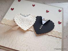 Zwei Herzen zur Hochzeit