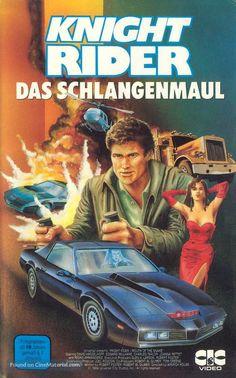 """Knight Rider"" (1982) German movie cover Joanna Pettet, 80 Tv Shows, Sci Fi Tv Series, Star David, Universal City, Movie Covers, Original Movie Posters, Studio City, Executive Producer"