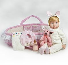 Looking for Real Life Baby Dolls and Realistic Baby Dolls with weighted body? Checkout on Molly & Fluffy. She feels like a real baby!  She c...