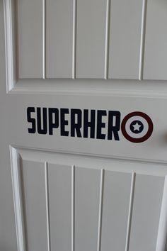 Captain America Decal-Superhero Decal-Boys by SouthernHoneyDecor