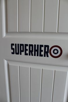 Captain America Decal-Superhero Decal-Boys by SouthernHoneyDecor