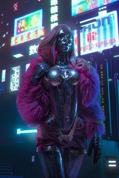 Cyberpunk 2077, Cyberpunk Games, Cyberpunk Girl, Arte Cyberpunk, Character Inspiration, Character Art, Character Design, Female Cyborg, Arte Steampunk