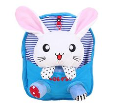 Cute Kids School Bag 3D Cute Rabbit Childrens Backpack Travel Shoulder Bag BLUE * Details can be found by clicking on the image. (Note:Amazon affiliate link)