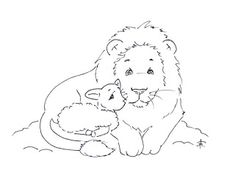 Sliekje digi Stamps: The lion and the lamb