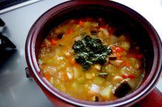 ◇バジルソース風味の野菜スープ(マクロビ)◇