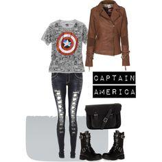 Captain America casual Cosplay
