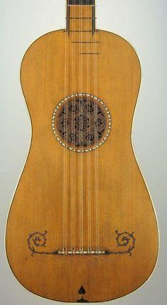 "Stradivarius Guitar 1679, the ""Sabionari, one of 5 remaining Stradivari guitars. In the collection of the ""Stradivariano"" museum in Cremona, Italy."