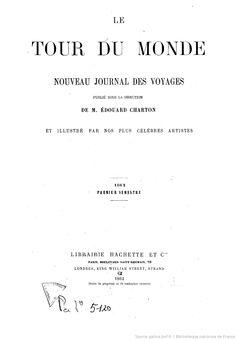 Le Tour du monde (Paris. 1860)