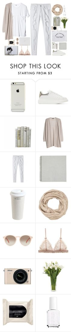 """""""Untitled #2661"""" by wtf-towear ❤ liked on Polyvore featuring Alexander McQueen, MANGO, Marc Jacobs, Mr. Coffee, maurices, GlassesUSA, Nikon, NDI, H&M and Essie"""