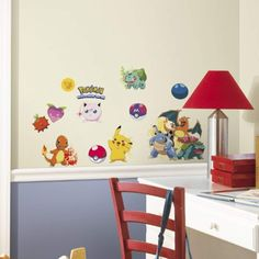 Add some cuteness and color just about anywhere with the Roommates Pokemon Iconic Peel and Stick Wall Decals ! Make over a Pokemon fan's walls,.