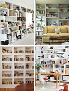 The built-in bookcase design
