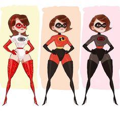 Incredibles Super Suit, The Incredibles Elastigirl, Disney Incredibles, Disney Films, Disney And Dreamworks, Disney Art, Cartoon Icons, Cartoon Art, Violette Parr