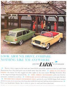 1960 Studebaker Lark - Look around, drive, compare - Original Ad