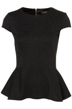 RIB PEPLUM TOP    Price: $48.00