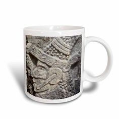 3dRose Wall detail, Juego de Pelota, Ball Court, Chichen Itza Archaeological Site, Yucatan State, Mexico, Ceramic Mug, 15-ounce