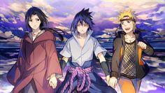Tags: Fanart, NARUTO, Uzumaki Naruto, Uchiha Sasuke, Pixiv, Uchiha Itachi, PNG Conversion, Fanart From Pixiv, Usagi (Pixiv1723159), Uchiha Brothers