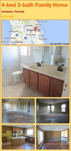 4-bed 3-bath Family Home in Orlando, Florida ►$170,000 #PropertyForSale #RealEstate #Florida http://florida-magic.com/properties/90796-family-home-for-sale-in-orlando-florida-with-4-bedroom-3-bathroom