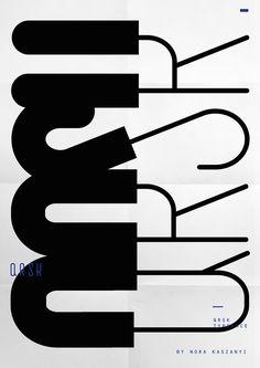norakaszanyi: Q R S K typeface poster by Nora Kaszanyi