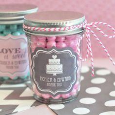 Personalized Bridal Shower Mini Mason Jars