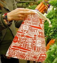 Organic Reusable Vegetable Bags