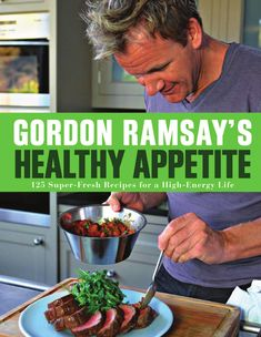 Gordon Ramsay's Healthy Appetite You are what you eat--and Gordon Ramsay's Healthy Appetite will help you feel and look your best. Ramsay himself is a super-fit marathon runner and high-energy personality who knows what it takes to stay in the peak of health. He has created over 125 fresh, great-tasting recipes that are completely in tune with the way people want to eat today. From mouthwatering Buckwheat Crepes with Smoked Salmon to kid-friendly Chicken Burgers with Sweet Potato Wedges…