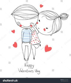 Find Valentines Day Boy Girl Love Cards stock images in HD and millions of other royalty-free stock photos, illustrations and vectors in the Shutterstock collection. Miss You Cards, Love Cards, Embroidery Floss Projects, Love Doodles, Valentines Day Wishes, Christmas Drawing, Couple Cartoon, Painting For Kids, Cute Illustration