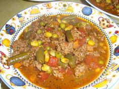 Betty's Ramblings: Savory Hamburger Vegetable Soup