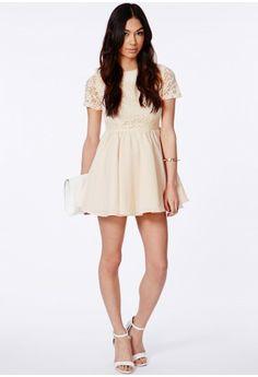 c1c87ec775 Sofitha Lace Puffball Skater Dress - Dresses - Skater Dresses - Missguided  Missguided