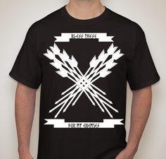 Wanted Bless My Enemies T-Shirt Fundraiser - unisex shirt design - front