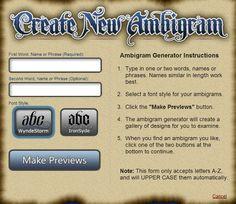 The Ambigram Generator                                                                                                                                                                                 More