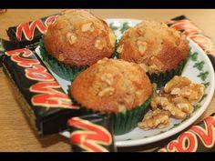 Cupcakes de chocolatinas Mars y nueces