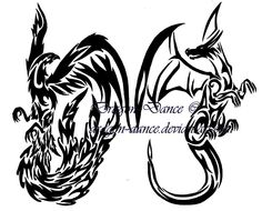 Phoenix and dragon tattoo like how they have each other's back. This pair has a very strong bond
