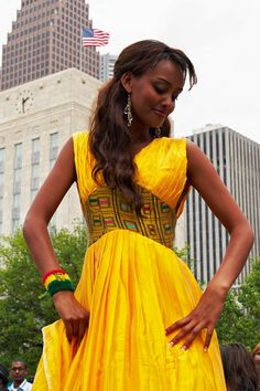 Ethiopian Yellow Dress