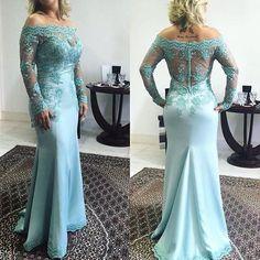Long Sleeves Applique Unique Elegant Long Prom Dresses, PM0044
