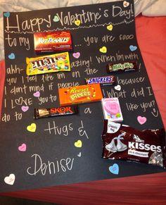 Candy bar poster for boyfriend