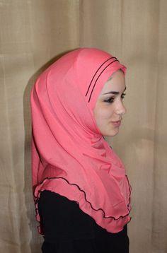 1 Piece Amira Hijab Silky Piped Shayla Underscarf  NEW NWT Trim ruffle #Unbranded #Amira