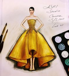 Fashion Illustration Speed Painting with Ink – Fashion Models Dress Design Drawing, Dress Design Sketches, Fashion Design Sketchbook, Dress Drawing, Fashion Design Drawings, Fashion Sketches, Fashion Illustration Tutorial, Illustration Mode, Design Illustrations