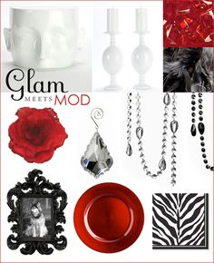 red, white, black, color scheme red carpet party - the details are glamorous enough to support a red carpet event - use these ideas and inspiration for your own decor!