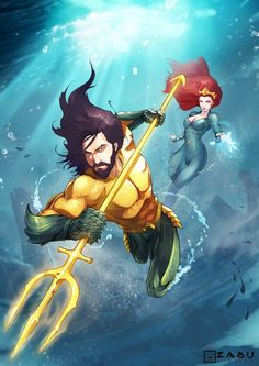 The Aquaman Shrine ( Arte Dc Comics, Dc Comics Heroes, Aquaman Movie 2018, Aquaman Film, Comic Books Art, Comic Art, Jason Momoa Aquaman, Hq Dc, Dc Characters