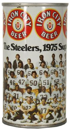 Pittsburgh Steelers, 1976 Super Bowl Champs (Iron City Beer) I remember these cans! Steelers Pics, Steelers Gear, Here We Go Steelers, Pittsburgh Steelers Football, Pittsburgh Sports, Steelers Stuff, Iron City Beer, Steelers Super Bowls, Beer Can Collection