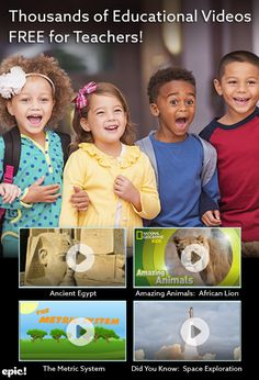 Epic for Educators is 100% FREE for elementary school teachers and librarians in the U.S. and Canada. Sign up with your educator email and gain instant, unlimited access to thousands of high-quality books and educational videos - free for classroom use!