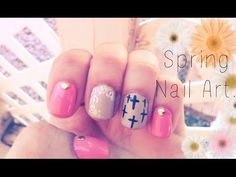 Cute Easy Spring Nail Art For Short Nails (Step by Step) ♡ -  A spring nail tutorial with an edgy look.   For my gals who love the bright colors and have short nails, but need help playing down some of the girly girly!  With this nail art you'll be ready to spring into the new season. I hope ya'll enjoyed watching. Subscribe for more videos!  ♡ *Music BIRDY:  SKINNY LOVE VANIC REMIX SKRUX & VENEMY:  ETERNITY I purchased all products used with my own $ $ $