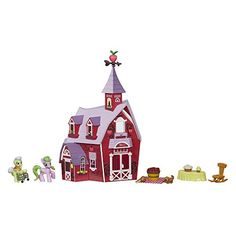Dollhouses - My Little Pony Friendship is Magic Collection Sweet Apple Acres Barn Pack Discontinued by manufacturer -- To view further for this item, visit the image link.