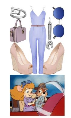 """Chip 'n' Dale Rescue Rangers: Gadget"" by janastasiagg ❤ liked on Polyvore featuring Jessica Simpson, Topshop, BillyTheTree, Blu Bijoux, Dolce&Gabbana, Dsquared2, disney and disneybound"