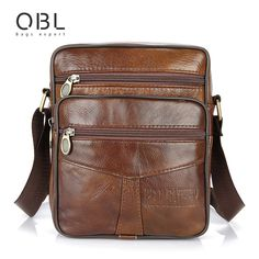 Men's Genuine Leather Cross Body Shoulder Bag
