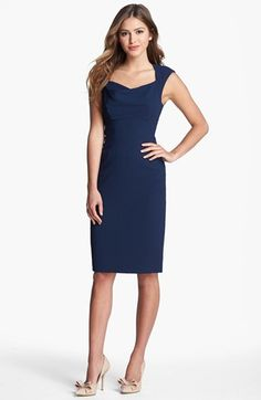 Black Halo 'Catherine' Cap Sleeve Sheath Dress available at #Nordstrom