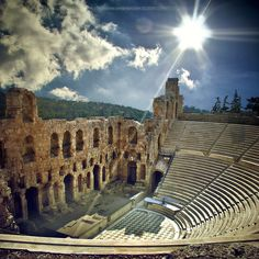 Amazing Examples Of Architecture Photography Odeon of Herodes Atticus, Acropolis of Athens, Greece Places Around The World, Oh The Places You'll Go, Places To Travel, Places To Visit, Around The Worlds, Travel Local, Mykonos, Santorini, Patras