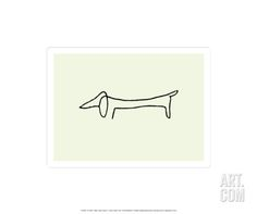 The Dog Serigraph by Pablo Picasso at Art.com